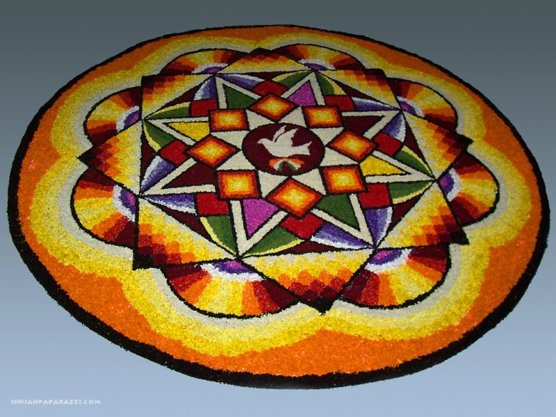 beautiful onam pookalam rangoli design