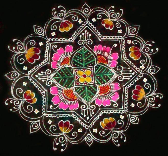 4 rangoli design by sudha balaji