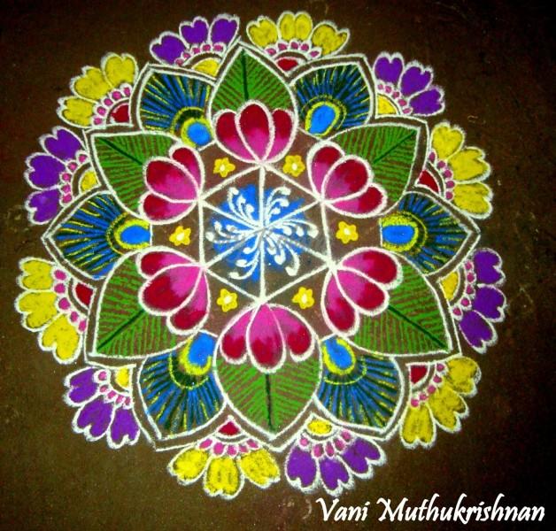 5 rangoli design by vani muthukrishnan