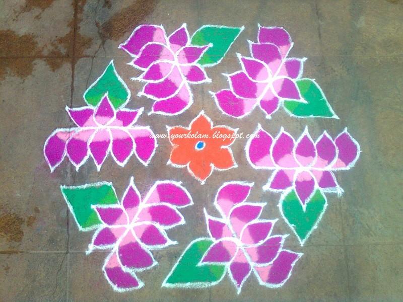 5 rangoli design by vijaya sharadha