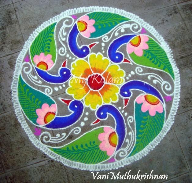 6 rangoli design by vani muthukrishnan
