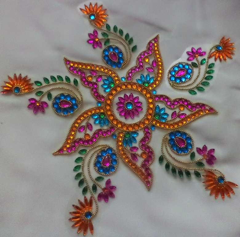 7 kundan design by nimisha