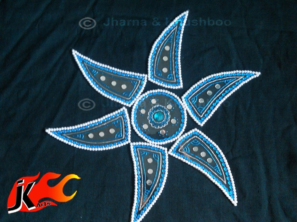 8 kundan rangoli design by jk arts