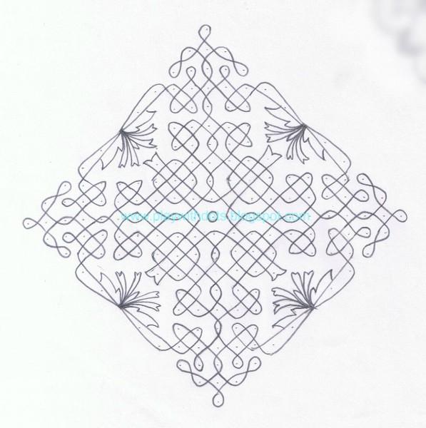9 kolam design by priya nanthakumar