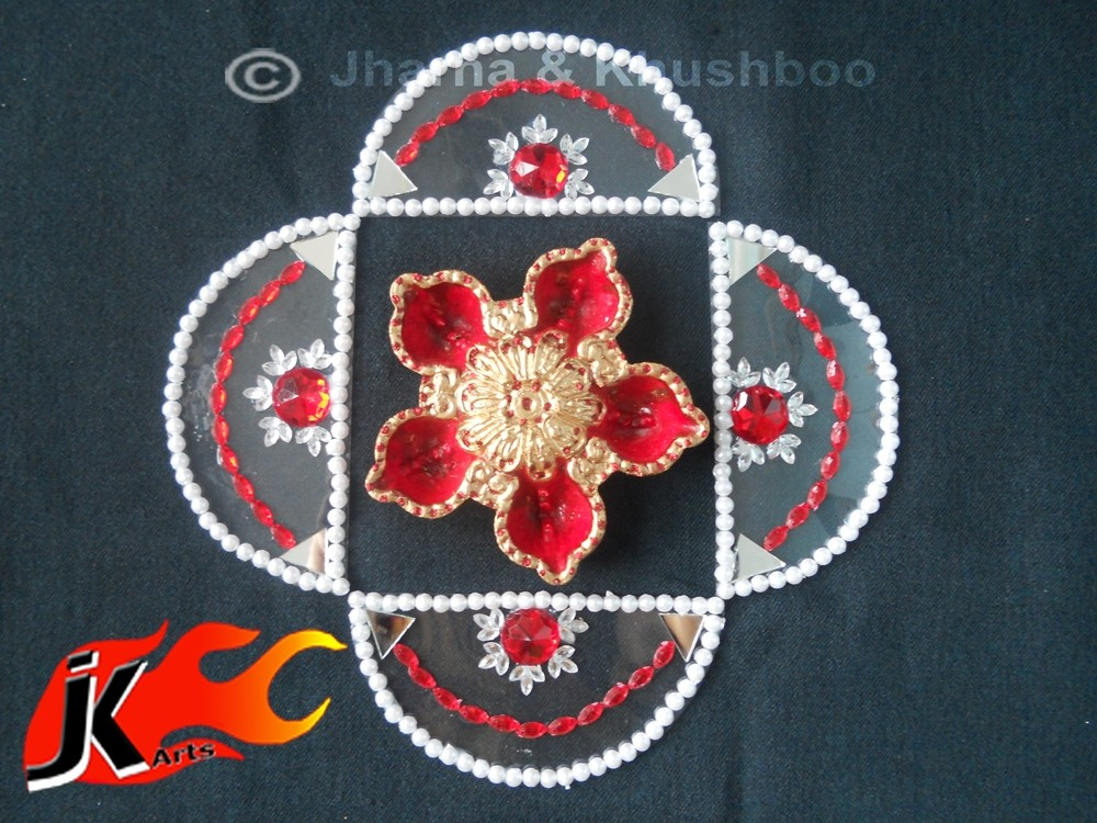9 kundan rangoli design by jk arts