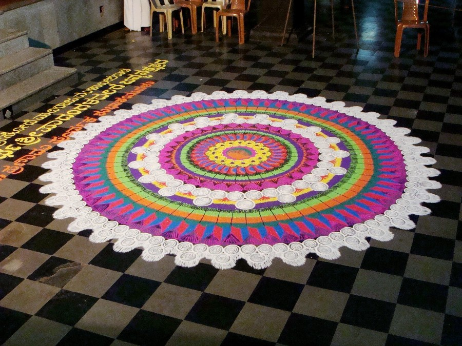 9 rangoli design by keshav pai