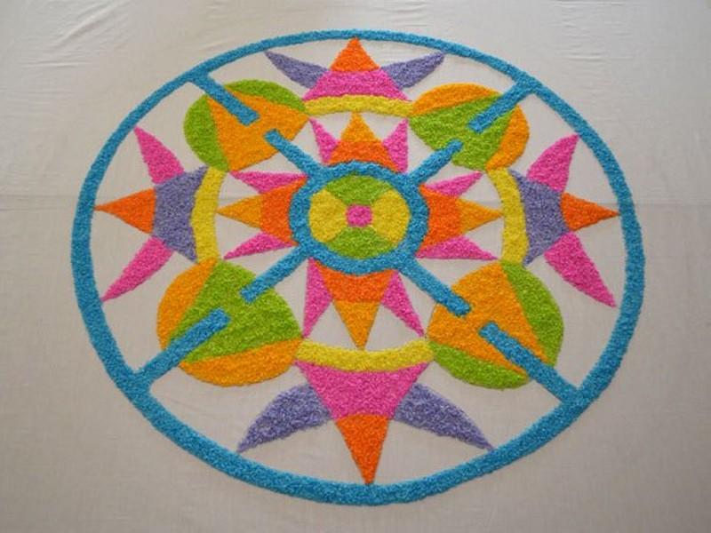 9 simple rangoli design by gowri savoor