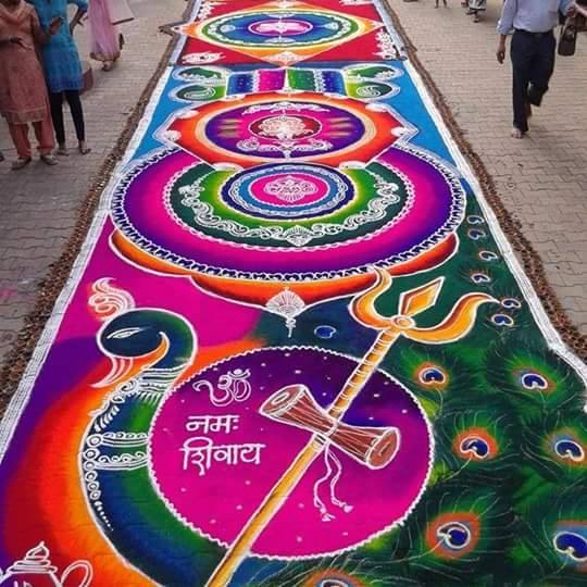 beautiful sanskar bharti rangoli