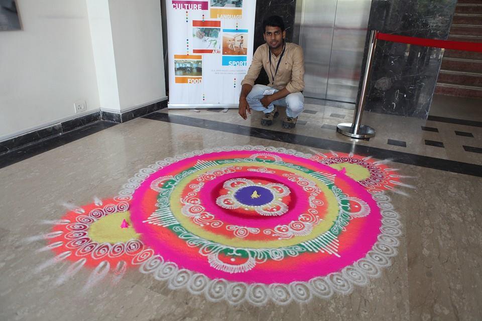 beautiful sanskar bharti rangoli design