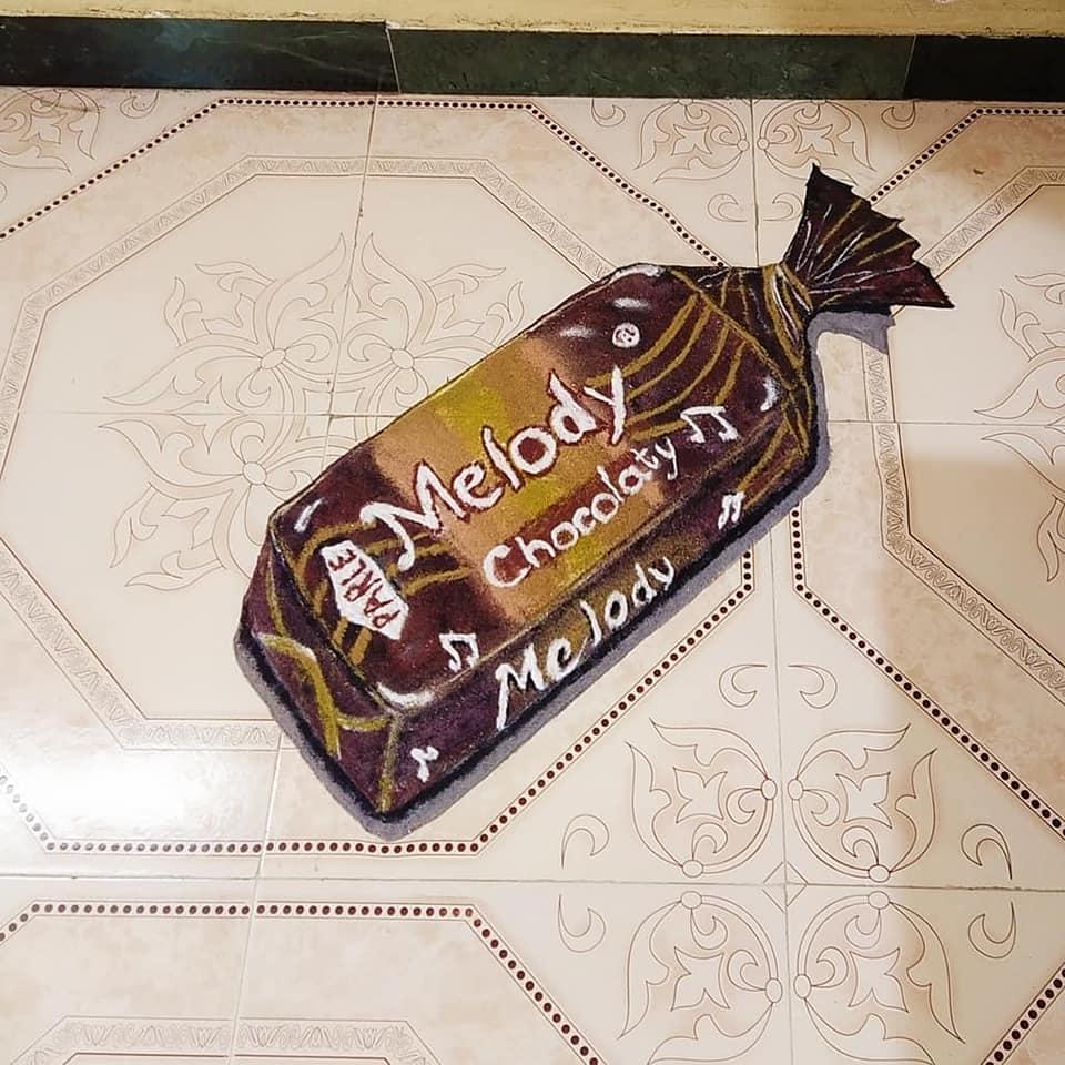 3d sand art rangoli design melody by aparna patil shiral