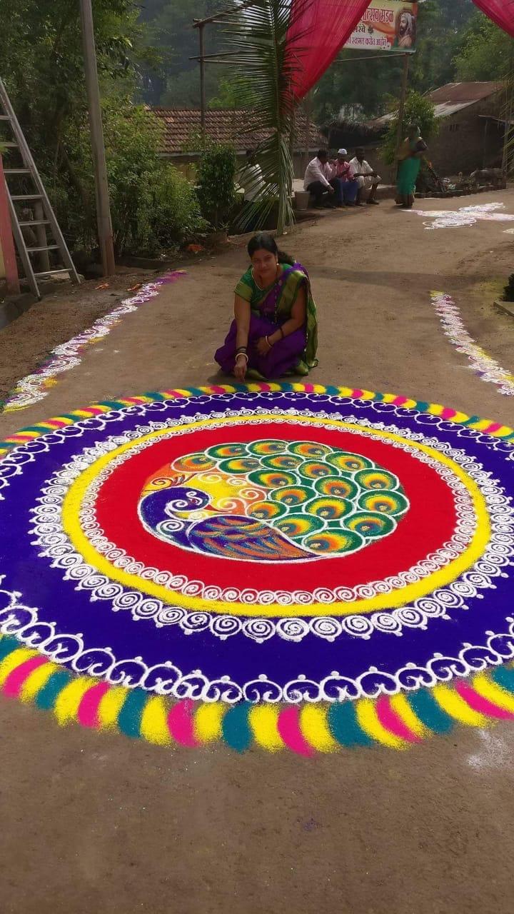 competition rangoli design by nirmala adsul