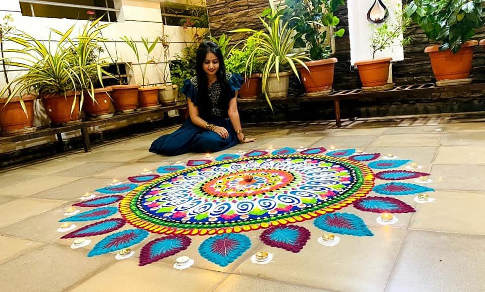 competition rangoli design by shefali jain