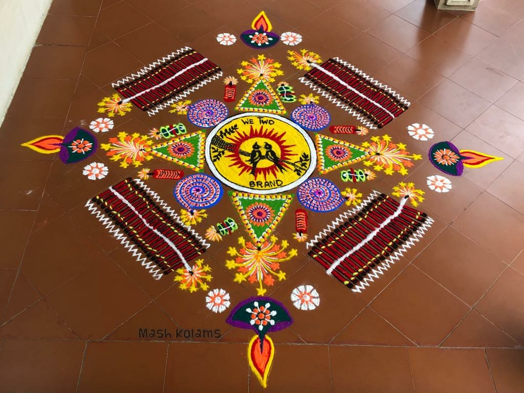 diwali rangoli design by mash