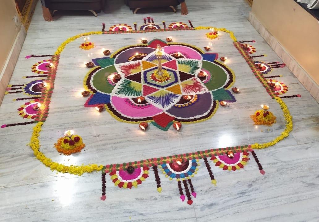 diwali rangoli design by suneetha puvvada