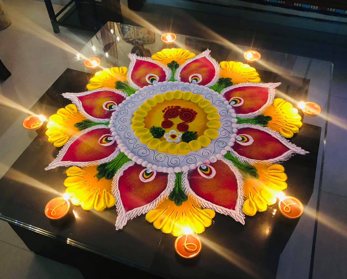 floral rangoli design competition by raju deep