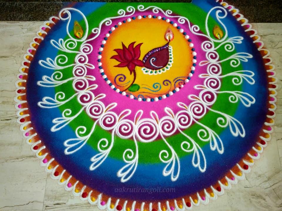mandala rangoli design floral by aakruti
