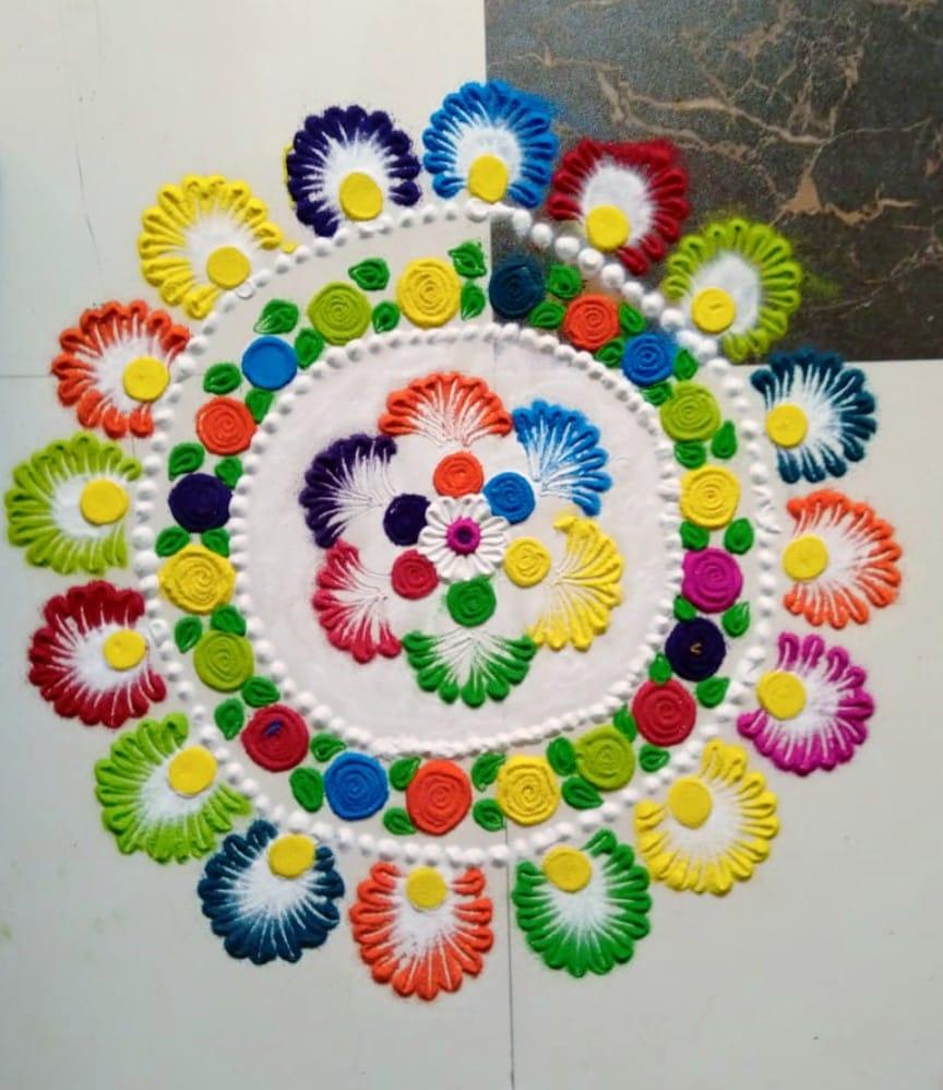 mandala rangoli design floral by swati ankur tamrakar