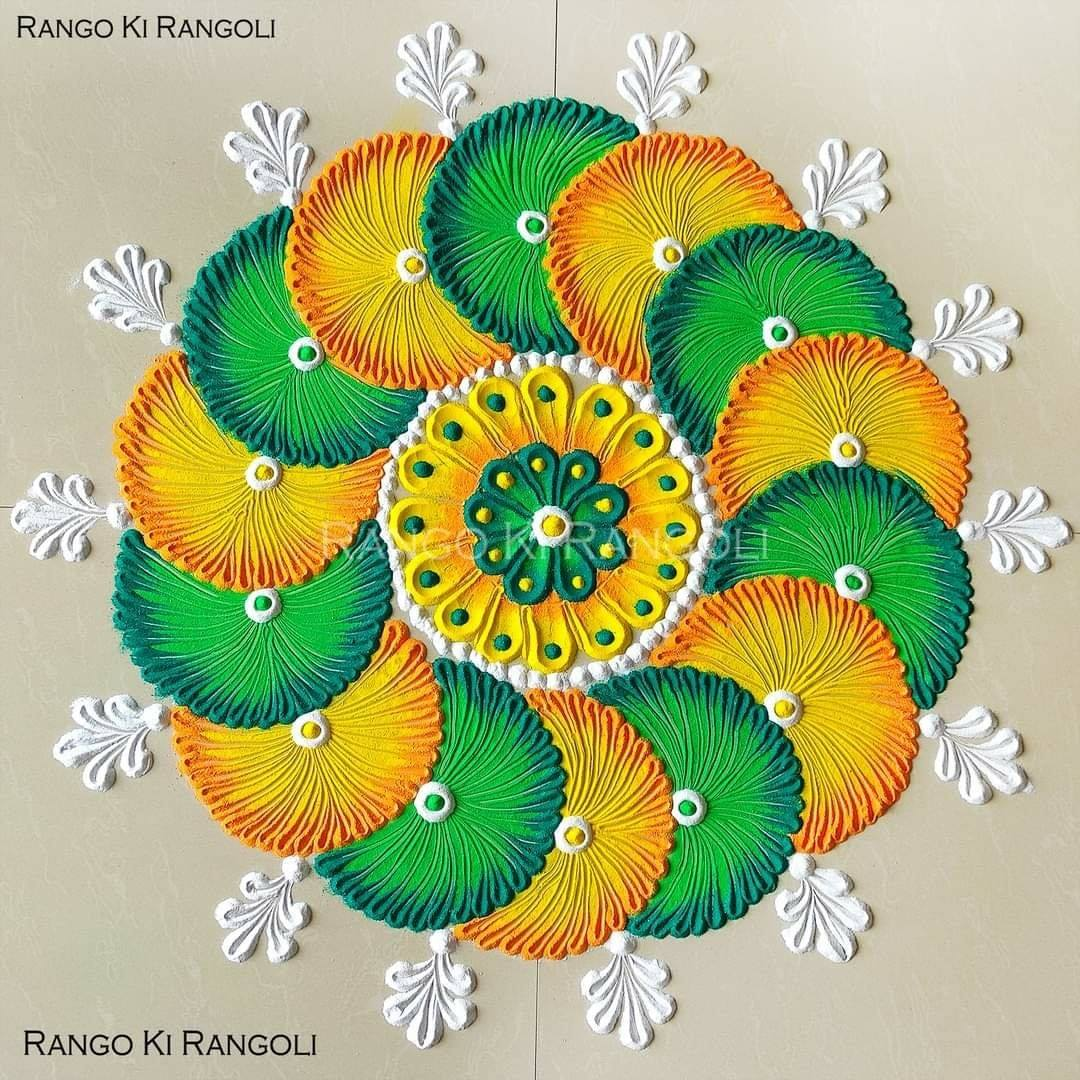 mandala rangoli design floral lemon by rangoki