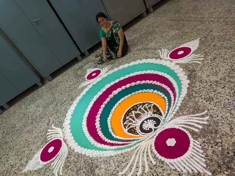 sanskar bharti rangoli design festval by nirmala adsul