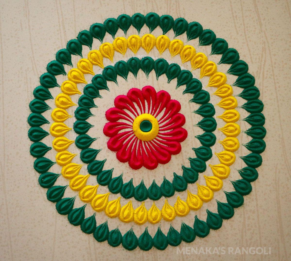 small rangoli design for kids