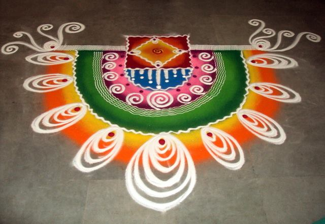 sanskar bharti rangoli by aakruti