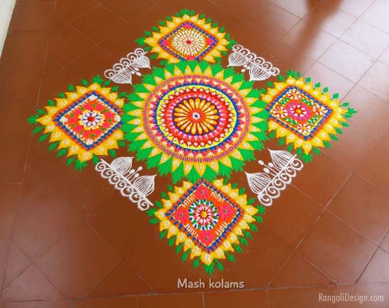 rangoli design by mash maheswari