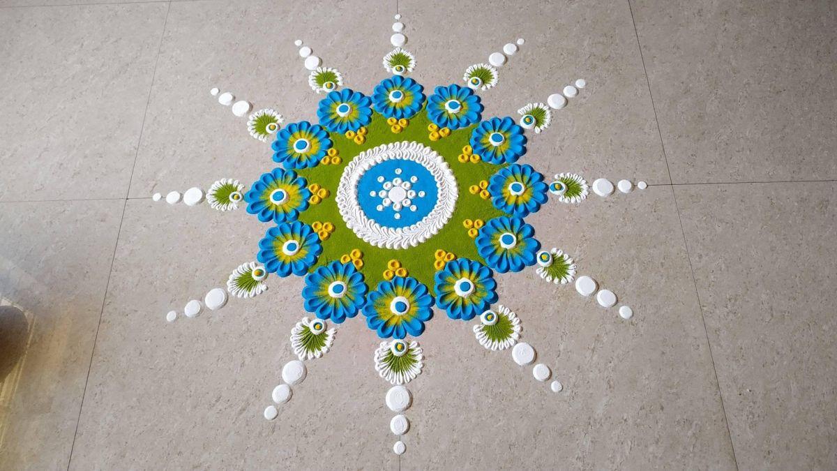 rangoli design floral by ansh