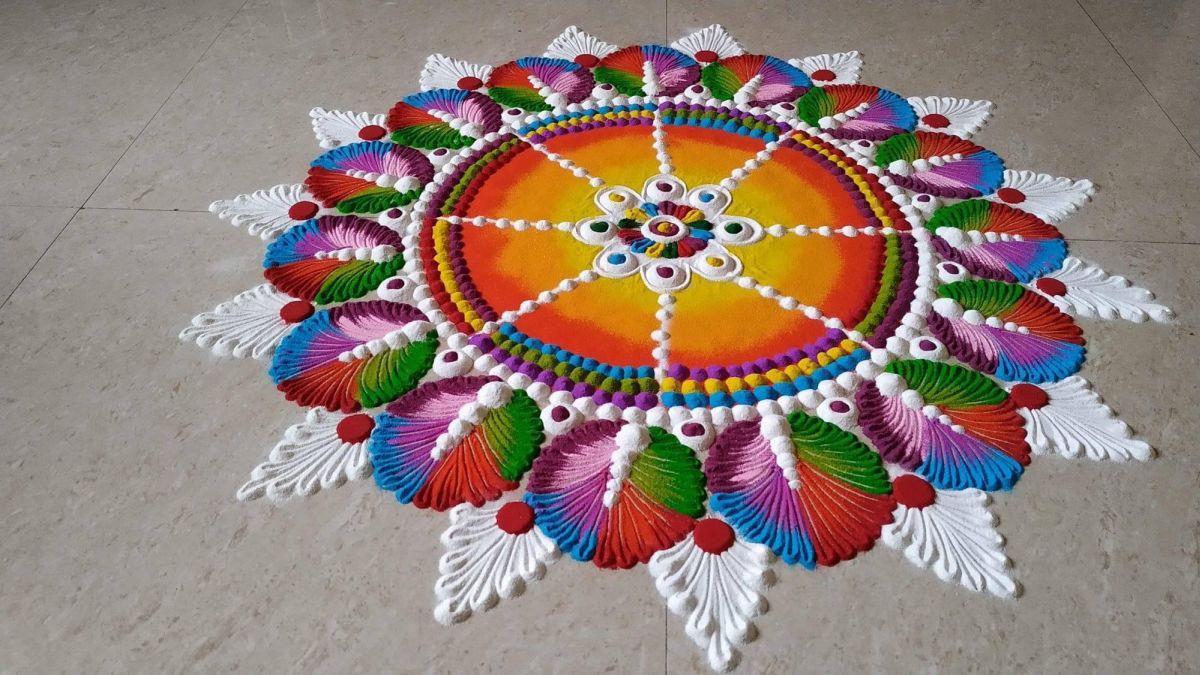 rangoli design mandala by ansh