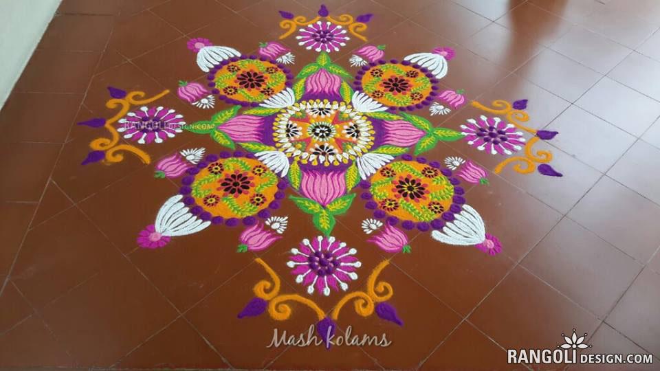 11 rangoli design flower by mash