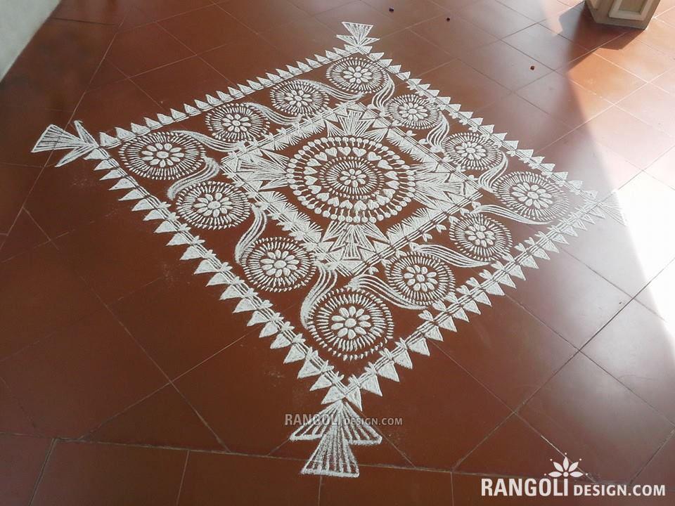 13 rangoli design flower