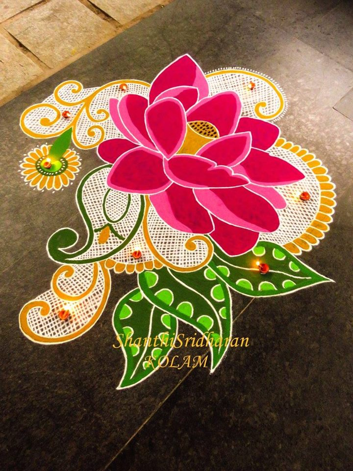rangoli design by shanthi sridharan
