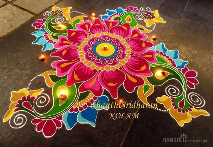 2 rangoli designs for diwali by shanthi sridharan