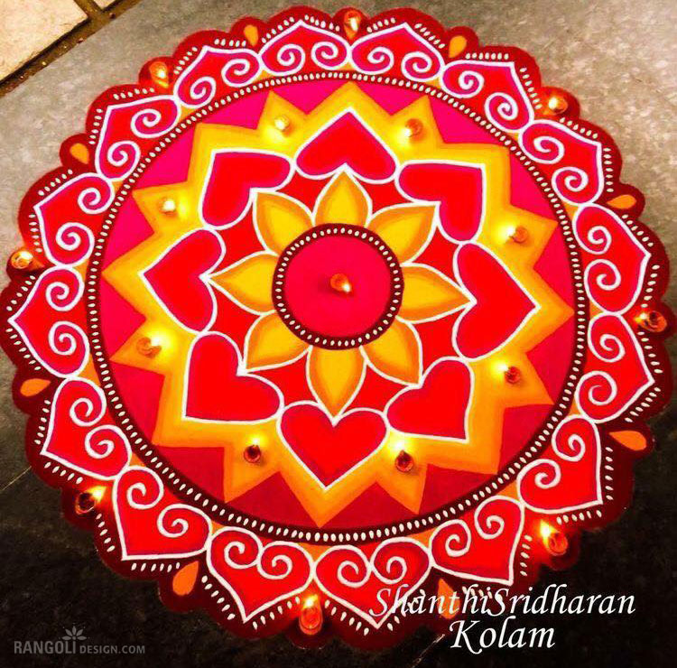 rangoli design for diwali by shanthi sridharan -  3