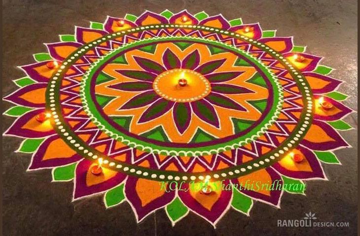7 diwali kolam rangoli design by shanthi sridharan