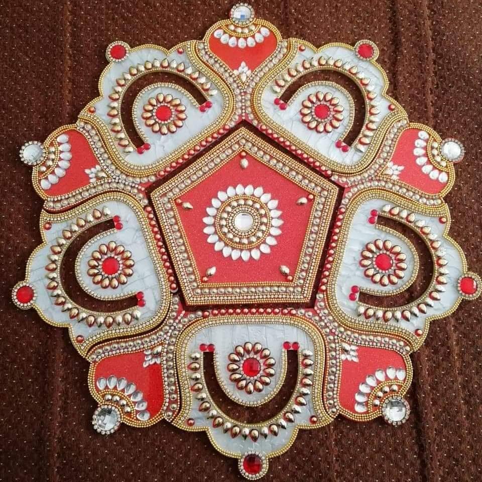kundan rangoli design by dona sanghvi mehta
