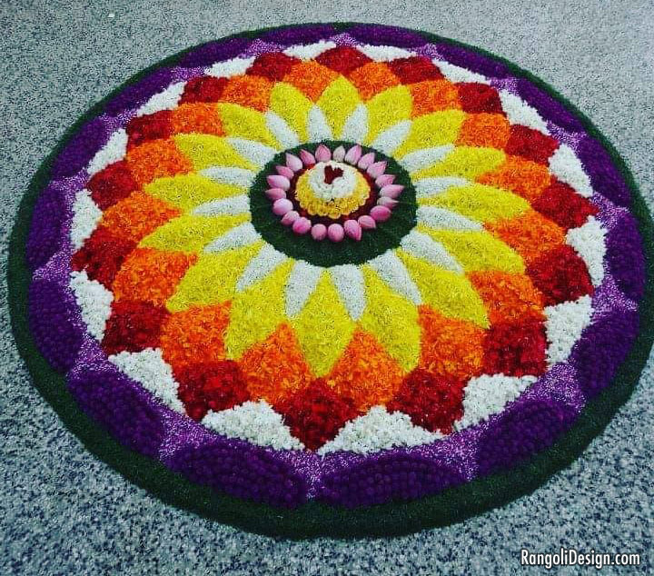 pookalam design flower by mariamjaco