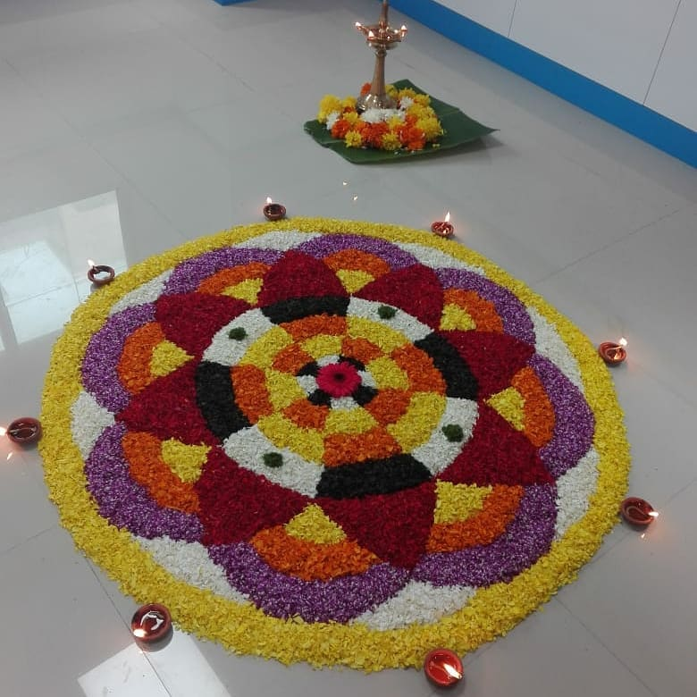 pookalam design flower by rehna ac555