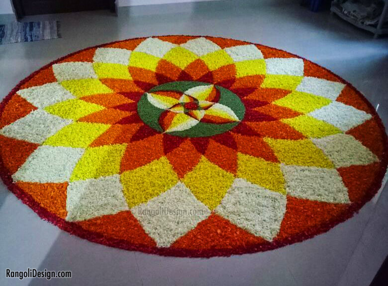 pookalam design simple by anuzagkp
